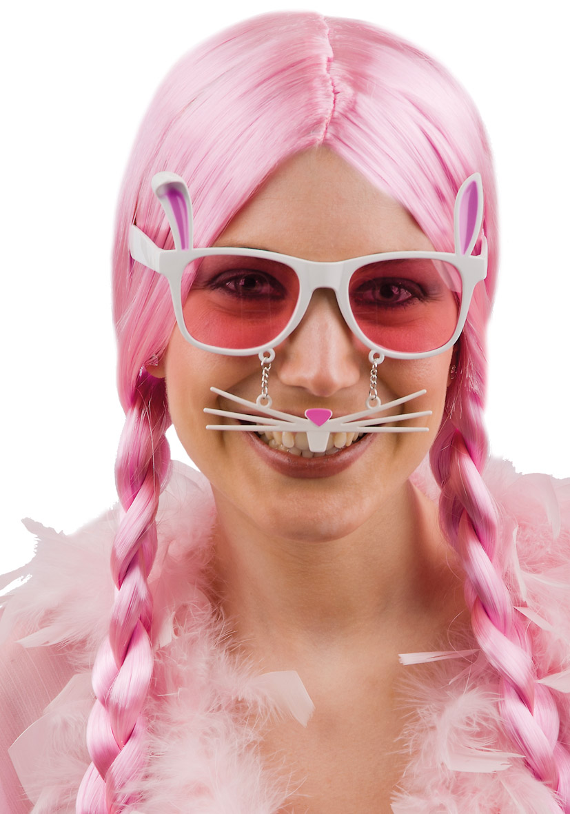Occhiali coniglietta con baffi