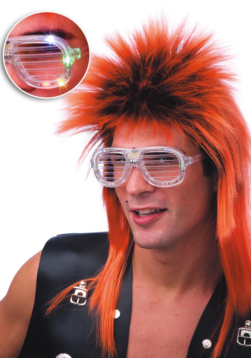 occhiali trasparenti con luci