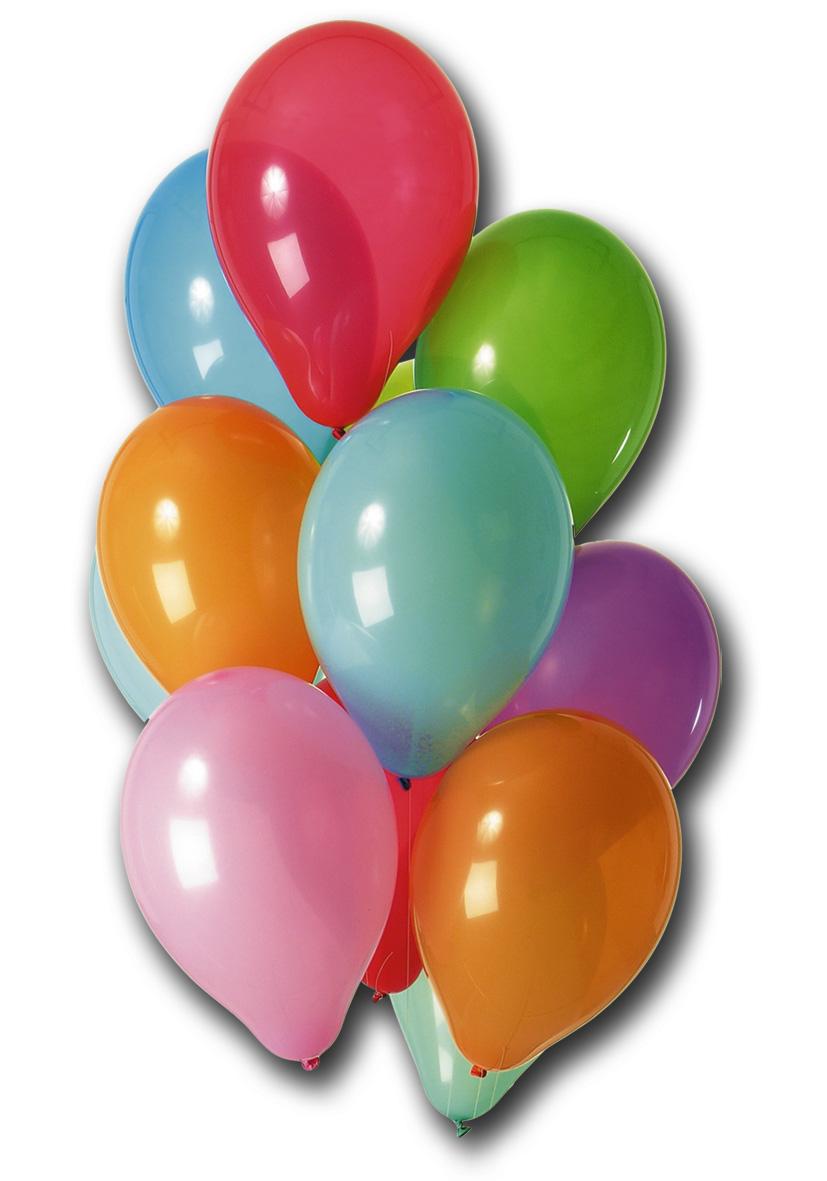 conf da 100 palloncini in colori assortiti