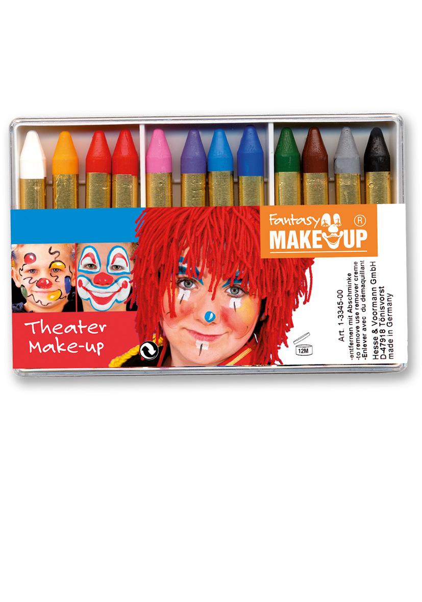 12 matite trucco