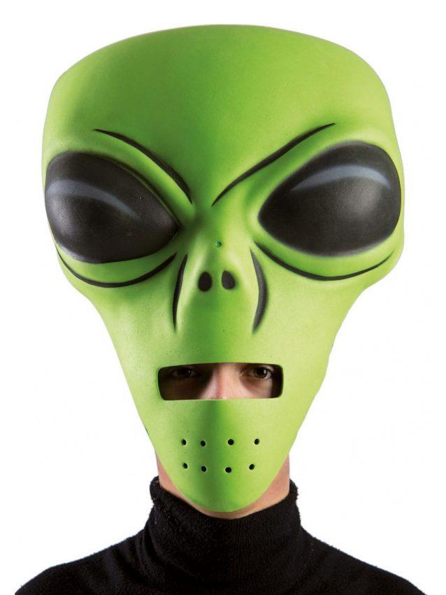 maschera extraterrestre verde