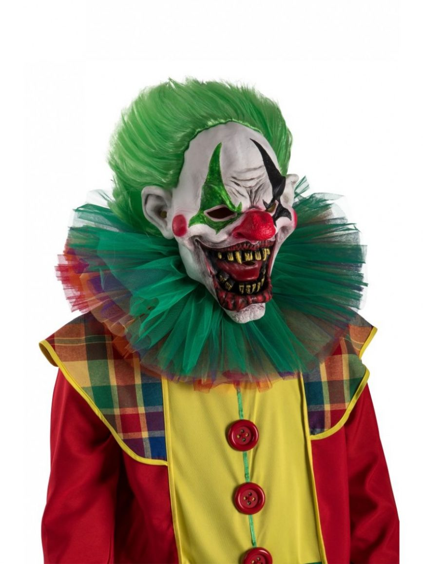 vestito COSTUME JOKER clown horror PAGLIACCIO carnevale FESTA adulto